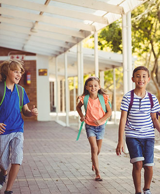 Kids happy leaving school